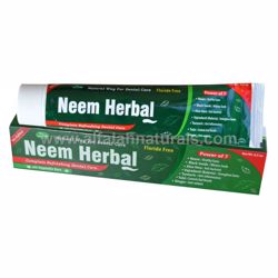 Picture of 2 Pieces - Neem Herbal Toothpaste w/ Xylitol 7 in 1 [Fluoride Free] [6.5 oz]