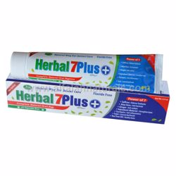 Picture of Herbal 7Plus+ Toothpaste w/ Xylitol 7 in 1 [100% Fluoride Free] [Halal] [6.5 oz]