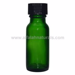 Picture of Boston Round 1/2 oz Green Glass Bottles With Poly Cone Lined Black Caps