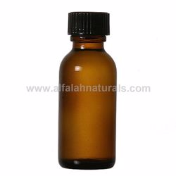 Picture of Boston Round 1/2 oz Amber Glass Bottles With Poly Cone Lined Black Caps