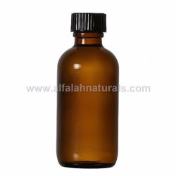 Picture of Boston Round 2 oz Amber Glass Bottles With Poly Cone Lined Black Caps